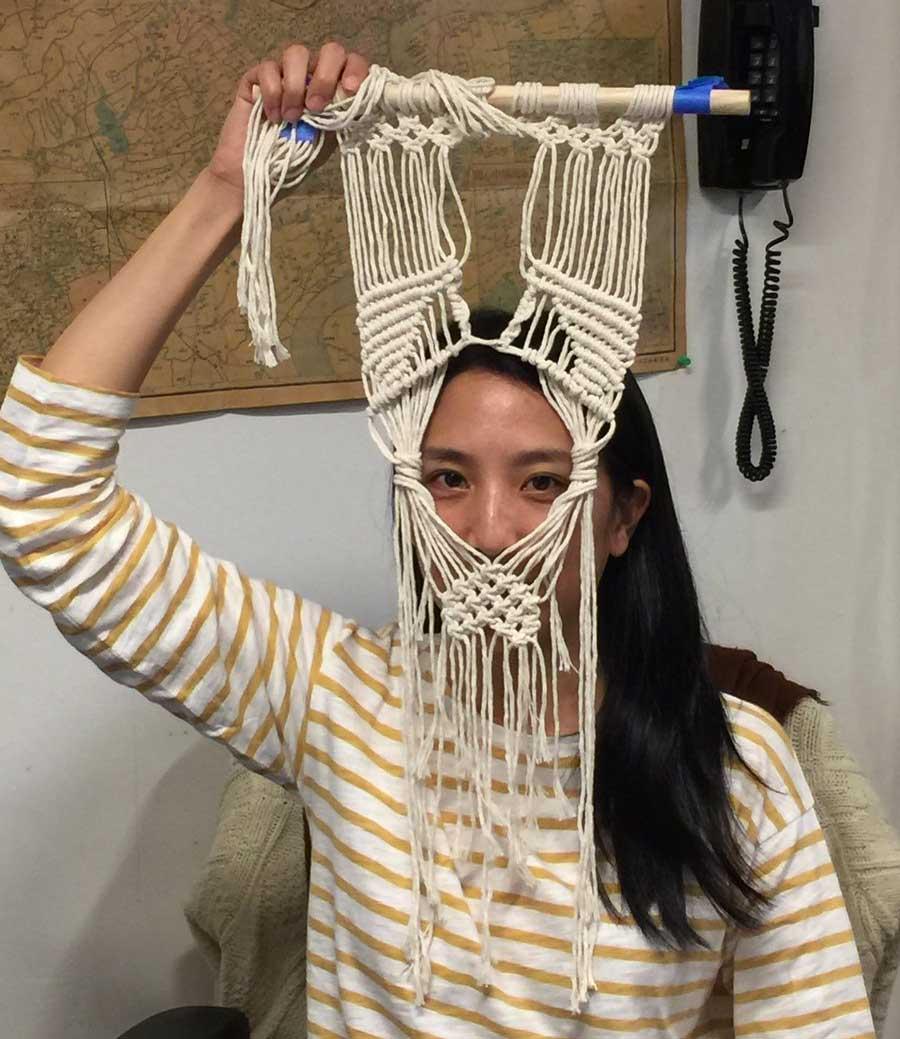 Photo of Maria Fang holding an Artisanal Snapchat Filter